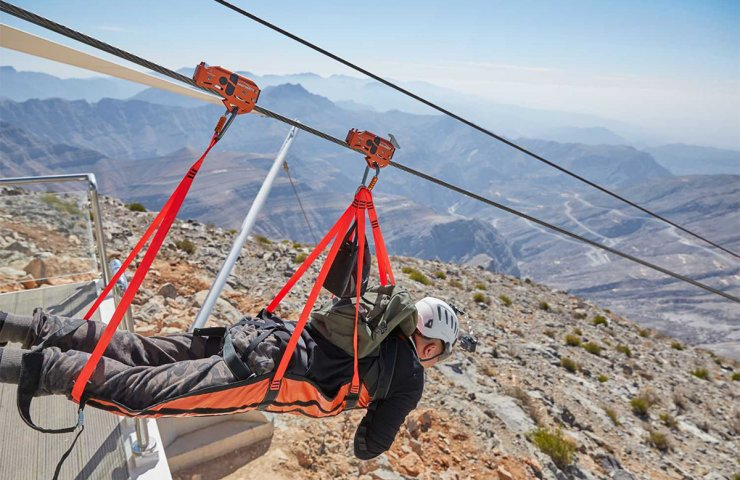 The longest zipline in the world is built of steel