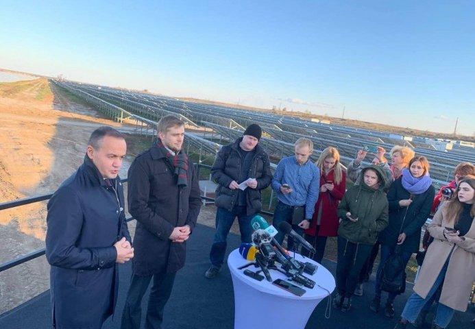 ДТЭК запустил солнечную электростанцию в Покровском (Видео)