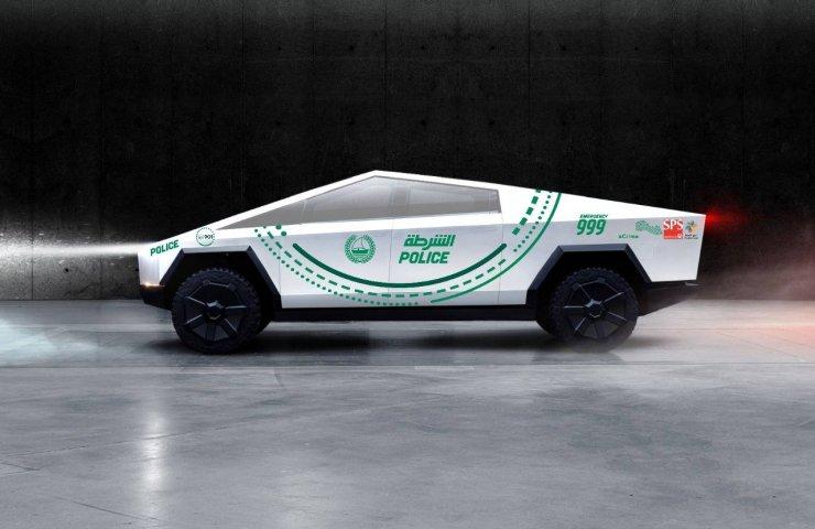 Полиция Дубая стала одним из заказчиков новых пикапов Tesla Cybertruck