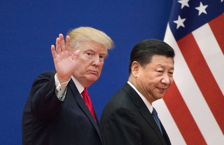 The words trump the continuation of the trade war with China caused a sharp rise in gold prices