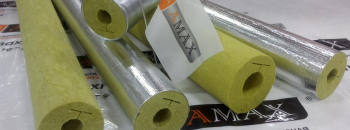 Mineral wool heat-insulating cylinders