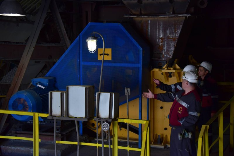 "In the metallurgical plant of ""Svyatogor"" installed a new jaw crusher"