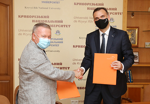 ArcelorMittal Kryvyi Rih signed a Memorandum of Cooperation with Kryvyi Rih National University