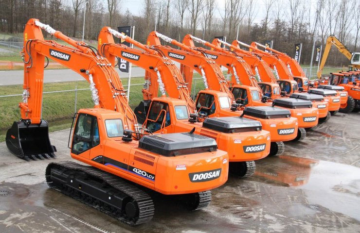 Spare parts and components for DOOSAN excavators