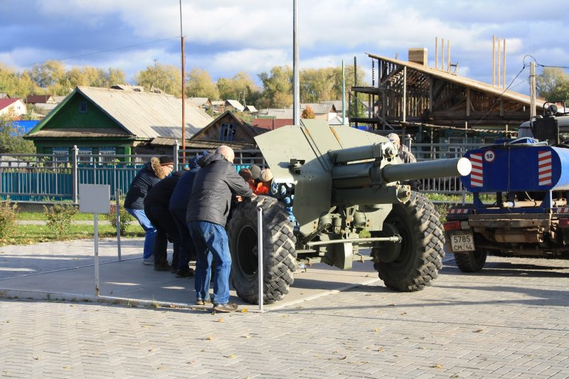 A 122mm howitzer of the 1938 model was delivered to Kirovgrad