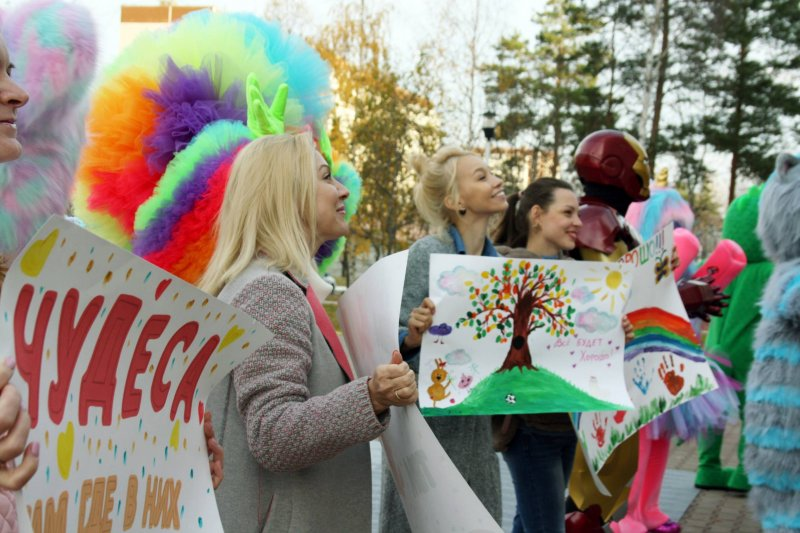 The Children of Russia Charitable Foundation arranged a performance for the patients of the Children's Oncology and Hematology Center of the CSTO in Yekaterinburg.