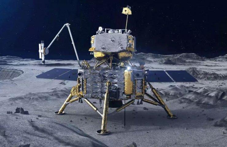 Китайский аппарат «Чанъэ-5» удачно собрал образцы лунного грунта