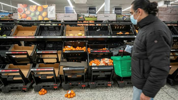 UK will face shortage of fresh food in the coming days