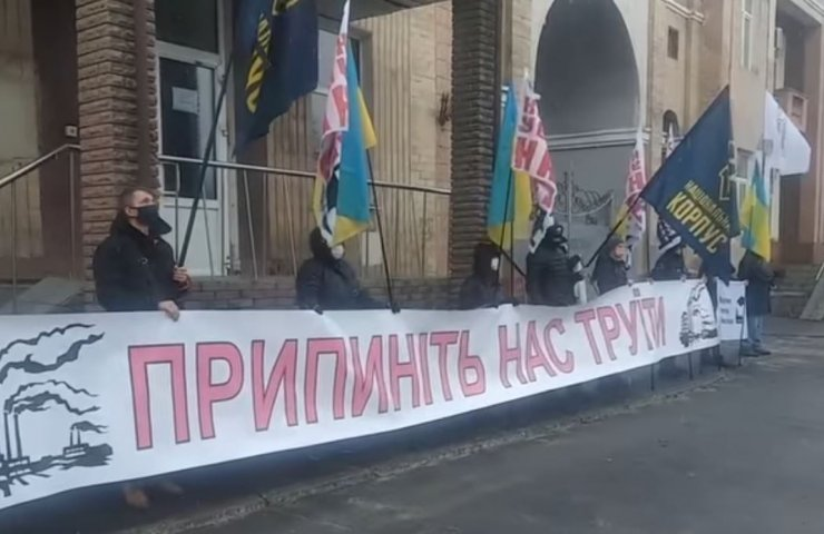 Protests against the work of a by-product coke plant continue in Kharkiv