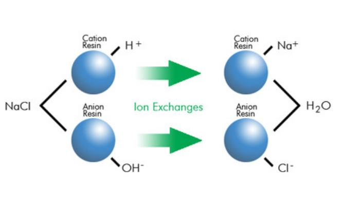 Ion exchange filters for water softening