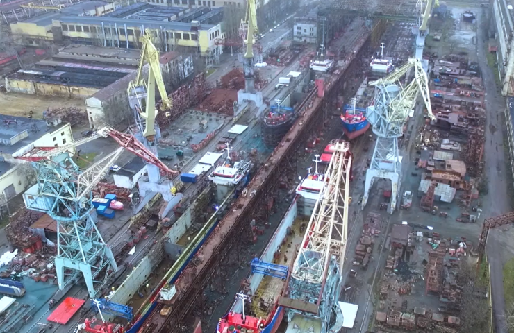 Kherson shipyard accepted for modernization two dry cargo vessels of the Dutch EEMS Werken