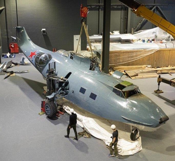 Flying boat has wings in the UMMC museum complex